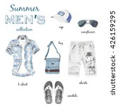 summer fashion man outfit image ... | Shutterstock . vector #426159295