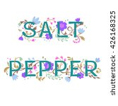 salt and pepper lettering with... | Shutterstock .eps vector #426168325
