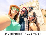 multicultural friends taking... | Shutterstock . vector #426174769