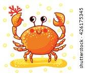 sea   rab. cute cartoon sea ... | Shutterstock .eps vector #426175345