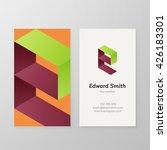 business card isometric logo...   Shutterstock .eps vector #426183301