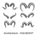 set of animal horns. sheep ... | Shutterstock .eps vector #426186547