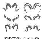 set of animal horns. sheep ... | Shutterstock .eps vector #426186547