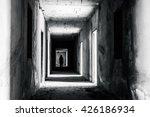walkway in abandoned building... | Shutterstock . vector #426186934