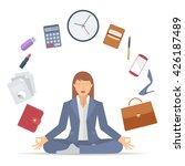 flat vector business concept... | Shutterstock .eps vector #426187489