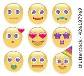 the set of nine smilies   Shutterstock .eps vector #426187969