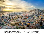 waste plastic bottles and other ... | Shutterstock . vector #426187984