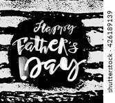 fathers day concept hand... | Shutterstock . vector #426189139