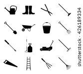 set of gardening icons  vector... | Shutterstock .eps vector #426189334