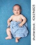 beautiful baby under a blue... | Shutterstock . vector #426196825