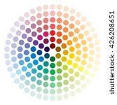 Color Wheel Composed Of Circle...
