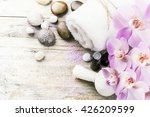 spa setting with pink orchid ... | Shutterstock . vector #426209599