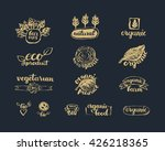 hand drawn farm fresh logo set. ... | Shutterstock .eps vector #426218365