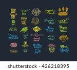 hand drawn farm fresh logo set. ... | Shutterstock .eps vector #426218395
