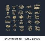 hand drawn farm fresh logo set. ... | Shutterstock .eps vector #426218401