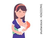 beautiful mother breastfeeding... | Shutterstock .eps vector #426221941