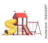 kids playground equipment with... | Shutterstock .eps vector #426222097