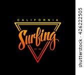 surfing logo. surfing... | Shutterstock .eps vector #426222505