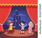 kids theater performance show... | Shutterstock .eps vector #426223069