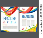 vector template design strips... | Shutterstock .eps vector #426223207