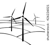 windmills  alternative and... | Shutterstock .eps vector #426226021