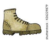freehand textured cartoon boot | Shutterstock .eps vector #426229879