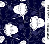 seamless pattern with white... | Shutterstock .eps vector #426231169