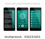music modern app user interface ...