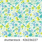 vector colorful floral seamless ... | Shutterstock .eps vector #426236227