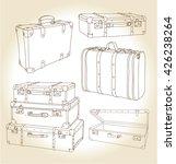 vector set of vintage suitcases ... | Shutterstock .eps vector #426238264