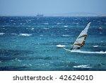 windsurfing in the open sea   Shutterstock . vector #42624010