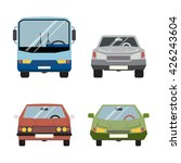 retro flat car icons set... | Shutterstock . vector #426243604