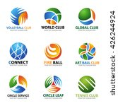 circle ball logo for sport and... | Shutterstock .eps vector #426244924