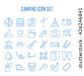 camping icons.  backpack  axe ... | Shutterstock .eps vector #426246841