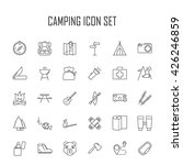 camping icons.  backpack  axe ... | Shutterstock .eps vector #426246859