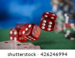 red dice rotates and will fall... | Shutterstock . vector #426246994