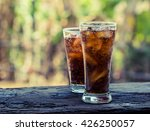 glass of cola with ice cubes... | Shutterstock . vector #426250057