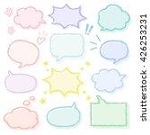set of cute speech bubbles  ... | Shutterstock .eps vector #426253231