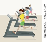 treadmill. women at the gym.... | Shutterstock .eps vector #426257839