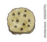 freehand textured cartoon cookie | Shutterstock .eps vector #426263701