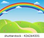 sunny background landscape... | Shutterstock .eps vector #426264331