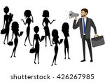 businessman with a megaphone... | Shutterstock .eps vector #426267985