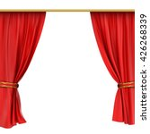 theater stage with red curtain   Shutterstock .eps vector #426268339