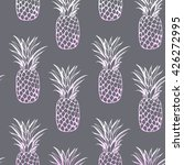 vector pineapple seamless  | Shutterstock .eps vector #426272995