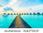 beautiful tropical maldives... | Shutterstock . vector #426273319
