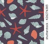 seashells icon seamless pattern ...   Shutterstock .eps vector #426276385