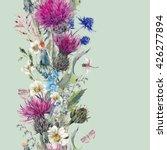 vintage vertical watercolor... | Shutterstock .eps vector #426277894