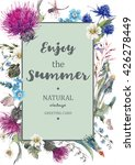 vintage watercolor natural... | Shutterstock .eps vector #426278449
