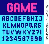 pixel retro font video computer ... | Shutterstock .eps vector #426283147