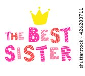 the best sister vector... | Shutterstock .eps vector #426283711